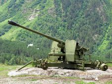 Free Anti-avalanche Cannon At Caucasus Royalty Free Stock Image - 19251166