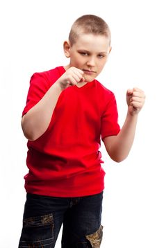 Free Aggressive Boy Stock Images - 19251184