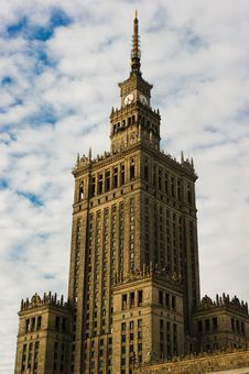 Palace Of Culture And Science Stock Photo