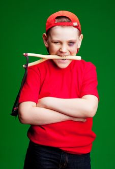 Free Boy With A Slingshot Royalty Free Stock Photos - 19251248
