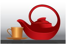 Free Elegant Teapot And Cup Stock Photography - 19251292