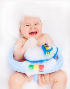 Free Displeased Baby Royalty Free Stock Photo - 19251445