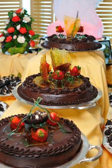 Free Tasty Chocolate Cakes Royalty Free Stock Image - 19251476