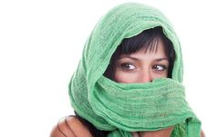 Free Woman With A Green Shawl Royalty Free Stock Photos - 19251528