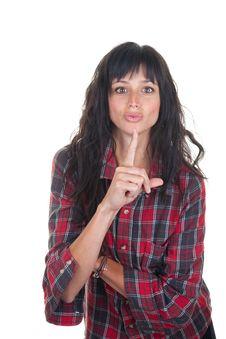 Keep Quiet Gesture Stock Image