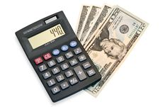 Free Calculator And Money Royalty Free Stock Photography - 19252017