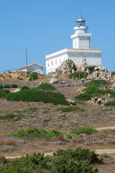 Free Capo Testa. Lighthouse Royalty Free Stock Photos - 19252488