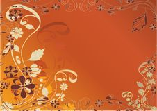 Free Orange,decorative Flowers Design Royalty Free Stock Images - 19252839