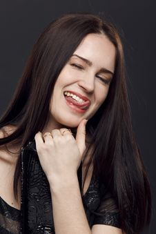 Free Funny Girl Royalty Free Stock Photography - 19253017