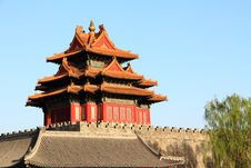 The Corner Tower Of The Forbidden City Royalty Free Stock Images