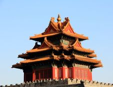 The Corner Tower Of The Forbidden City Royalty Free Stock Image