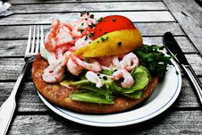 Shrimp Sandwich Stock Images