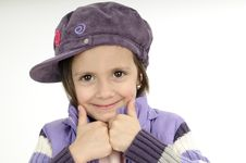 Free Cute Girl Showing Ok Sign Royalty Free Stock Photos - 19253528