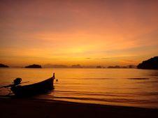 Free Sunset Sea Stock Image - 19253571
