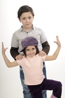 Free Caucasian Children Posing Royalty Free Stock Photography - 19253687