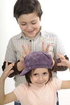 Beautiful Children Gesturing Royalty Free Stock Photo