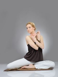 Free Creative Portrait Of Woman In Yoga Relaxation Royalty Free Stock Photo - 19253915