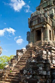 Ancient Temple Wat Ta Keo At Angkor Wat Complex Royalty Free Stock Photo
