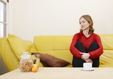 Free Woman On A Sofa Stock Photography - 19254012