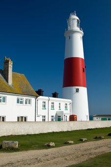 Free Portland Bill Lighthouse Royalty Free Stock Image - 19254496
