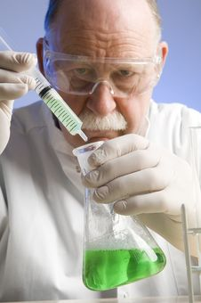 Chemist Working With Chemicals Stock Photos
