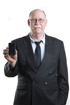 Free Businessman With His Cellphone Stock Photo - 19255310