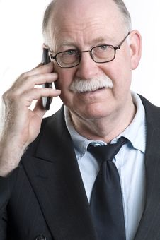 Free Businessman With His Cellphone Stock Image - 19255311