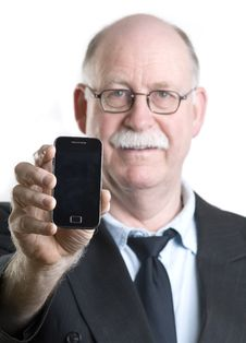 Free Businessman With His Cellphone Stock Images - 19255314