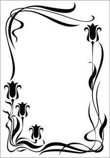 Free Frame Modern Vertical Black Stock Image - 19257831
