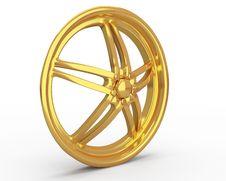 Free Gold Car Disc Royalty Free Stock Photos - 19258278