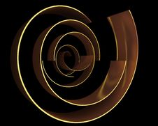 Free Abstract Gold Curves Stock Image - 19258291