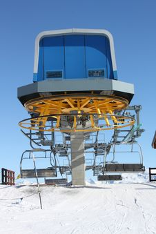 Free Chair Lift Station Royalty Free Stock Images - 19258549