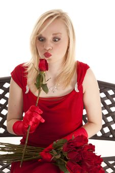 Free Kissing A Rose Stock Images - 19259074