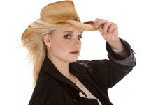 Free Serious Cowgirl Black Stock Photo - 19259280