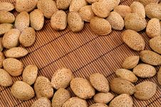 Free Almond Nuts Background Royalty Free Stock Photography - 19259437