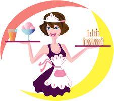 Waitress Stock Image
