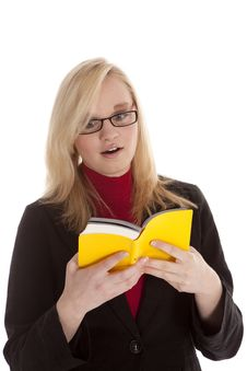 Free Woman With Book Surprised Reading Stock Image - 19259601