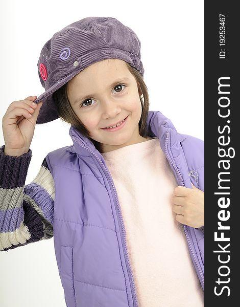 Happy child saluting with cap