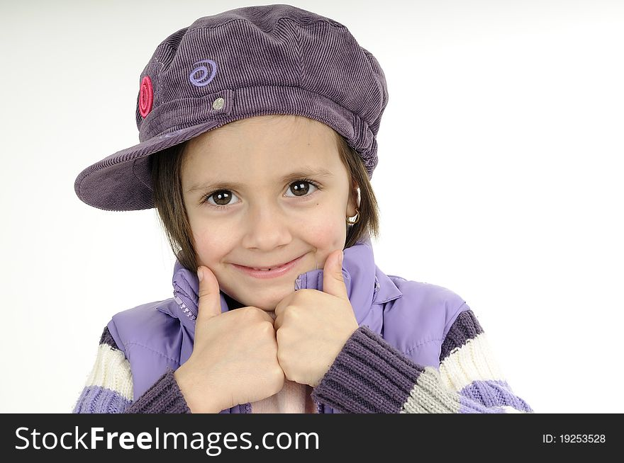 Cute girl showing ok sign