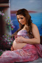 Free Close-up Of A Pregnant Woman Stock Photography - 19261602