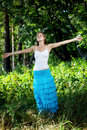 Free Beautiful Girl In A Summer Forest Stock Photo - 19263440