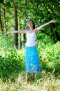Free Beautiful Girl In A Summer Forest Royalty Free Stock Images - 19263479