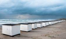 Beach Houses In Loekken Royalty Free Stock Photo