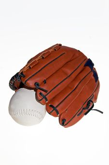 Free Baseball Glove And Ball Stock Photography - 19260422