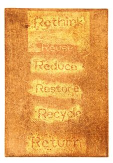 Free Six Ecological Phrases - Rethink-Reuse-reduce-rest Stock Photography - 19261302