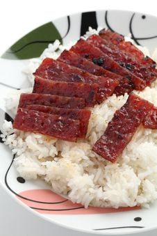 Free Barbecue Meat Rice Royalty Free Stock Photo - 19262155