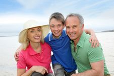 Free Family Portrait In Summer Stock Photography - 19262282