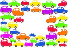 Colorful Cars Background Royalty Free Stock Image