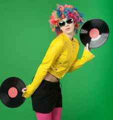 Free Disco Girl Royalty Free Stock Photography - 19262857