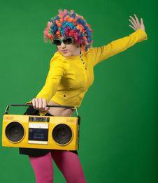 Free Disco Girl Royalty Free Stock Photo - 19262925